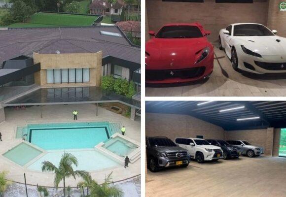 Mansión, fincas, Ferraris, Maseratis y camionetas blindadas: los lujos del poderoso narco del Clan del Golfo