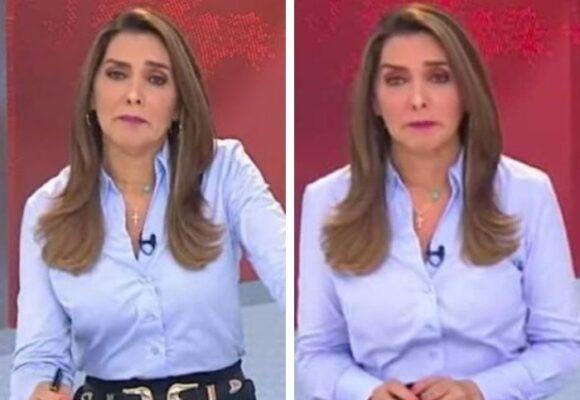 El llanto de Mónica Rodríguez en el noticiero