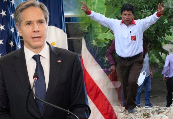 El secretario de Estado de EEUU felicita a Pedro Castillo y le pide mediar en Venezuela y Cuba