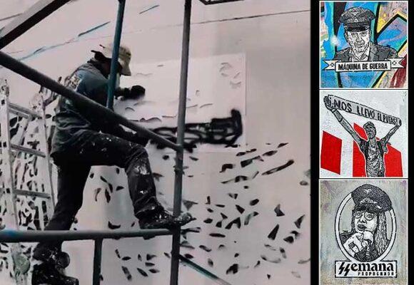 Dj Lu, el irreverente grafitero del paro