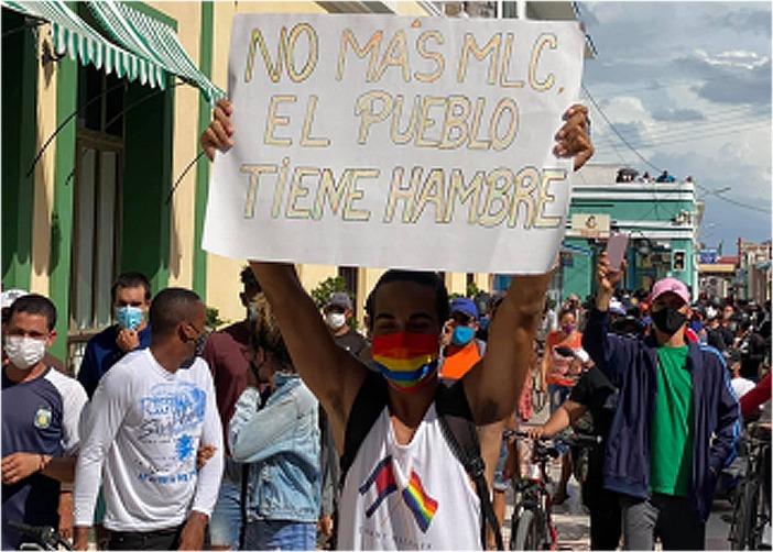 Miles de cubanos piden libertad en medio de colapso por Covid