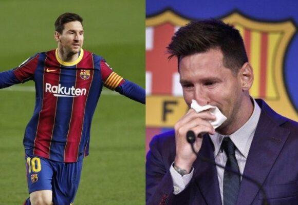 Video: Con lágrimas, Messi se despide del Barcelona