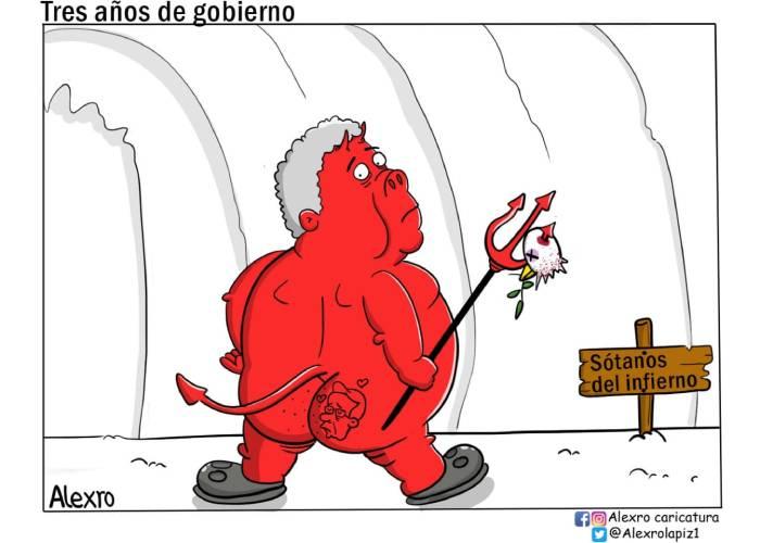 Caricatura: Tres años de gobierno