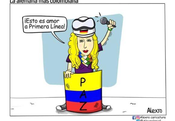 Caricatura: La alemana más colombiana