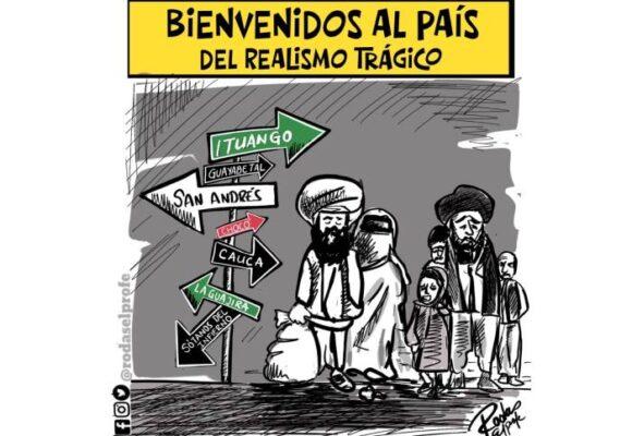 Caricatura: Bienvenidos al país del realismo trágico