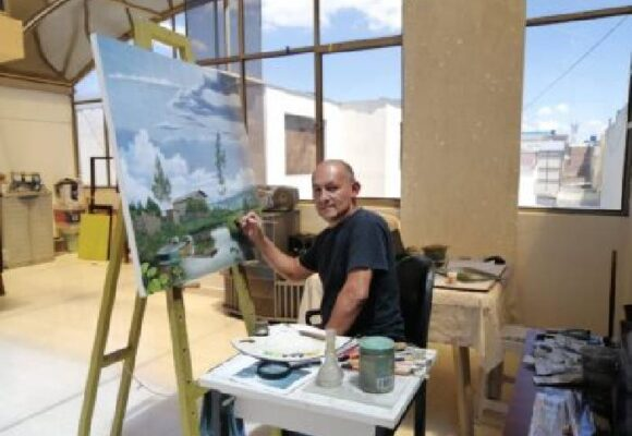 Marco Santacruz, el pintor de todos los verdes