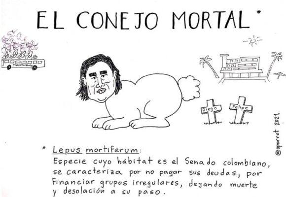 Caricatura: El conejo mortal
