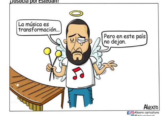 Caricatura: ¡Justicia por Esteban!