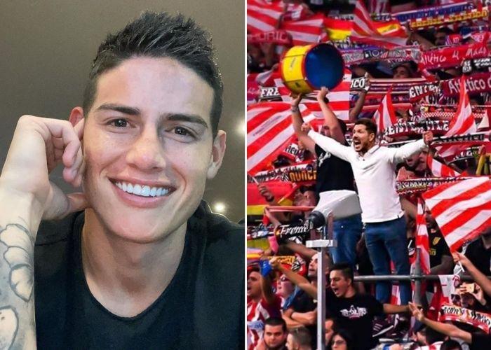 James Rodríguez le rompió el corazón a los hinchas del Atlético de Madrid