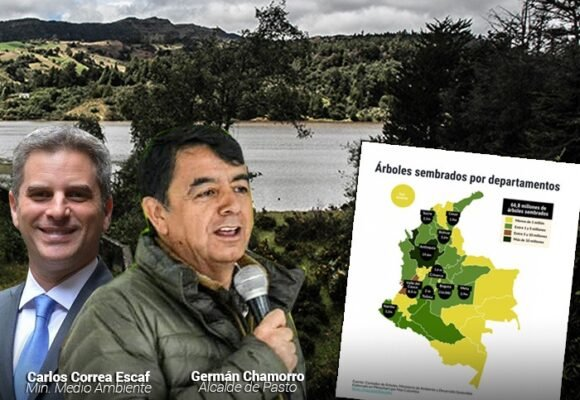 El alcalde de Pasto se lleva la delantera en la siembra de árboles en Colombia