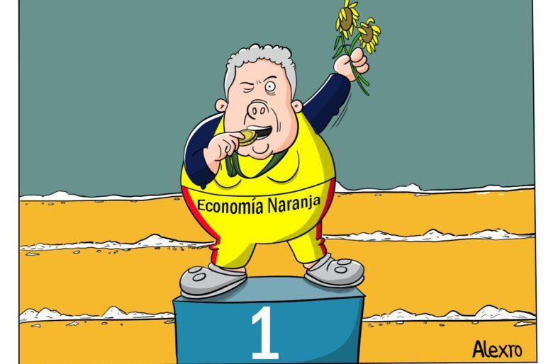 Caricatura: Los premios del gobierno Duque