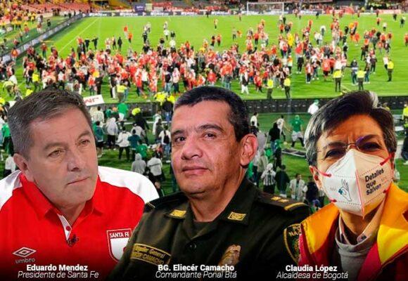 ¿Quién responde por la batalla entre barras bravas de Nacional y Santa Fe en El Campín?