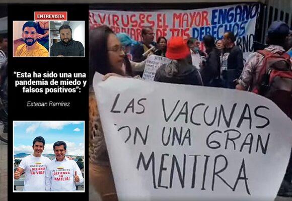 El líder de los antivacunas que buscan boicotear la inmunización contra el covid en Colombia