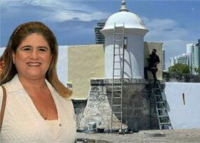 Los responsables de la pintada en las murallas de Cartagena