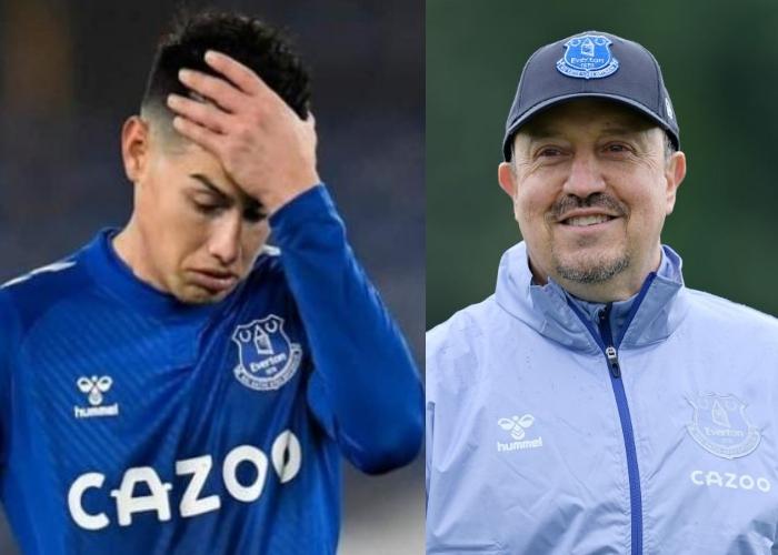 La excusa de Benítez para no volver a convocar a James Rodríguez en el Everton