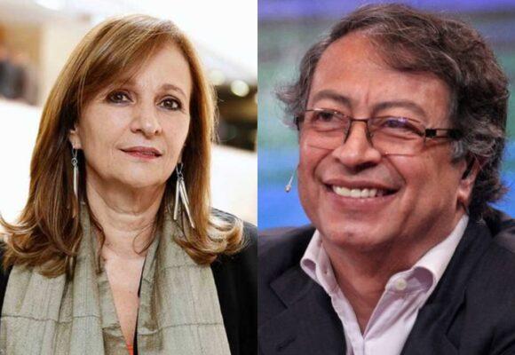 Subida de tono de Ángela María Robledo a Gustavo Petro en Twitter