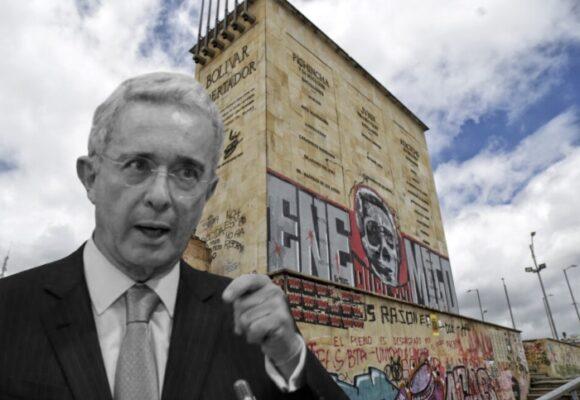 Álvaro Uribe descansa: empiezan las obras del metro en el Monumento de los Héroes