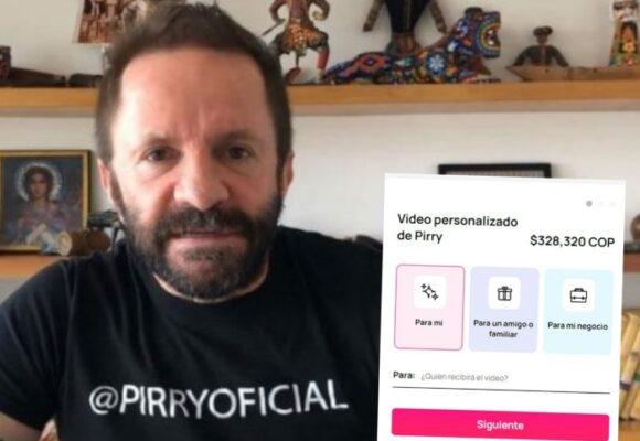 La decadencia de Pirry: cobrar $320 mil por un saludo a sus seguidores