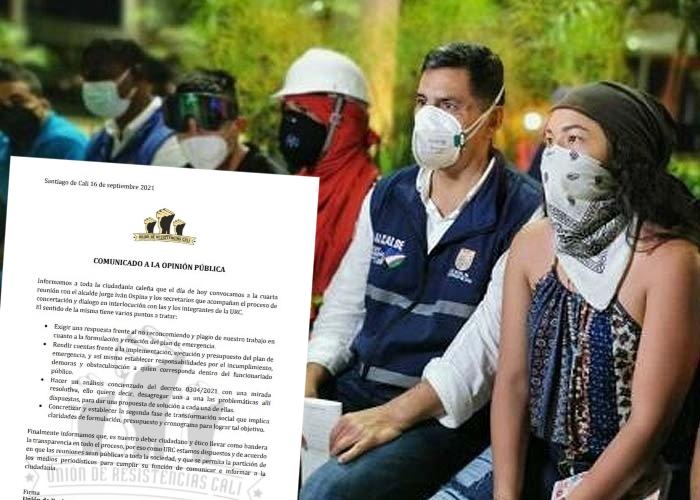 Resistencias de Cali se reunirán con el alcalde Ospina y proponen que la reunión sea pública