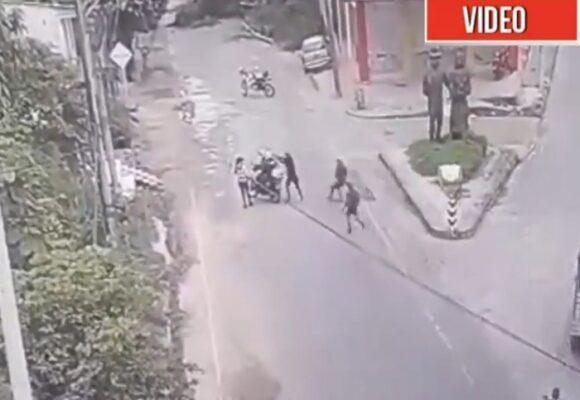 VIDEO: A sangre fría asesinan a dos policías en San Vicente del Caguán