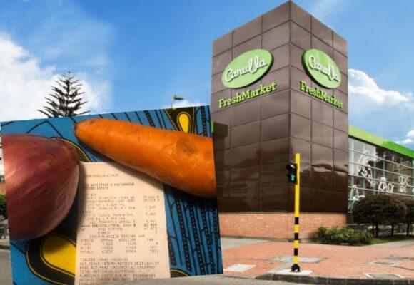 $9.000 pesos por una cebolla y una zanahoria: el descaro de Carulla en Bogotá