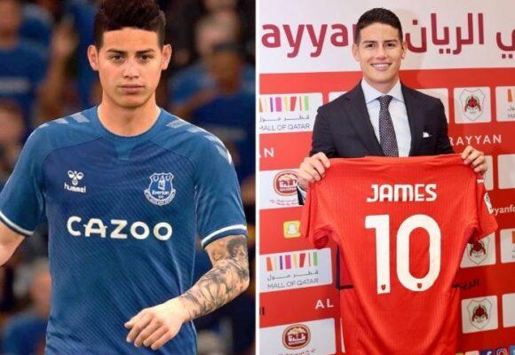 James ya paga caro su ida al fútbol de Catar: desaparece del FIFA 22