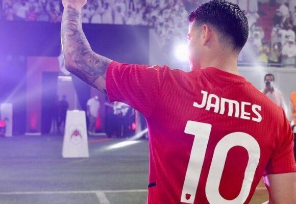 Amargo debut de James Rodríguez en Qatar