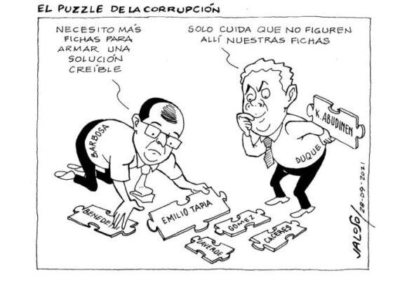 Caricatura: El puzzle de la corrupción