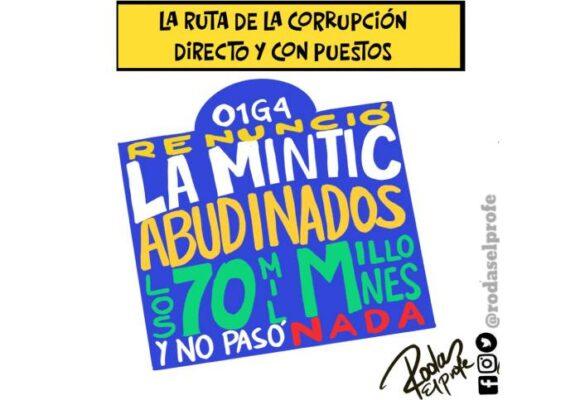 Caricatura: La ruta de la corrupción