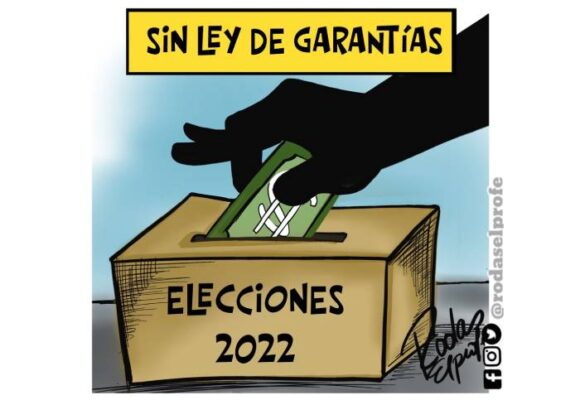 Caricatura: Sin ley de garantías