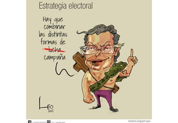 Caricatura: Estrategia electoral
