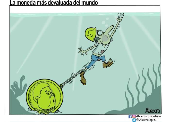 Caricatura: La moneda más devaluada del mundo