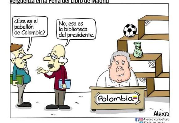 Caricatura: Vergüenza en la Feria del Libro de Madrid
