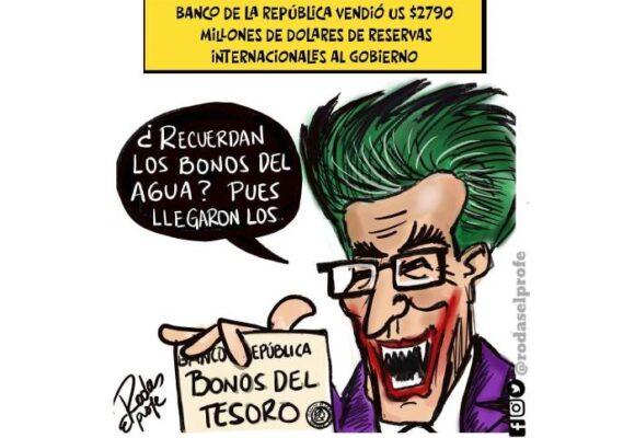Caricatura: las jugadas en el Banco de la República