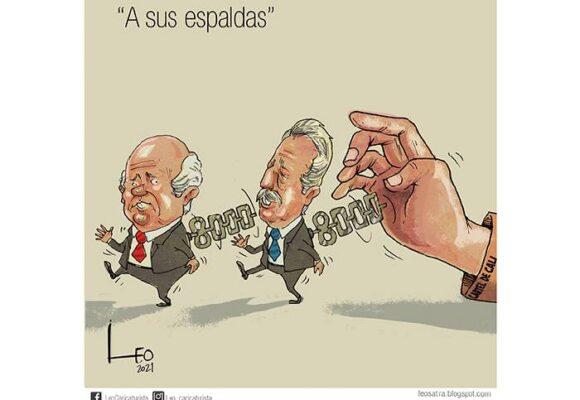 Caricatura: A sus espaldas