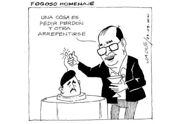 Caricatura: Fogoso homenaje