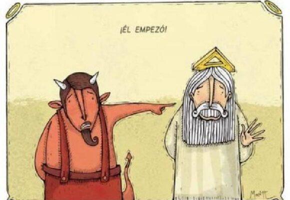 Dios y el diablo como jefes de campaña