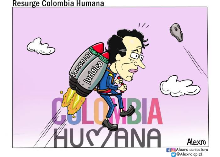 Caricatura: Resurge Colombia Humana