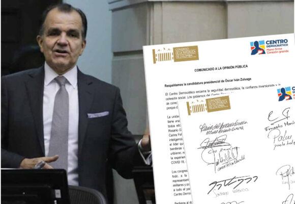 Congresistas del Centro Democrático cierran filas en favor de Óscar Iván Zuluaga