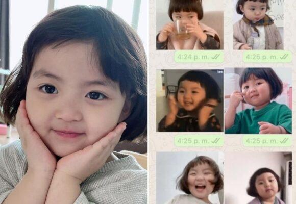 La niña coreana que se convirtió en la reina de los stickers de Whatsapp