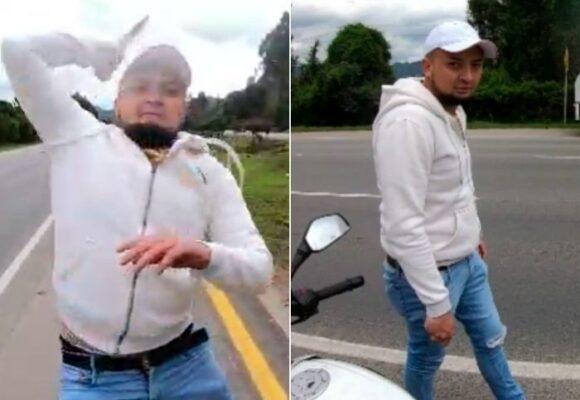 VIDEO: A puñal volquetero ataca a motociclista al norte de Bogotá