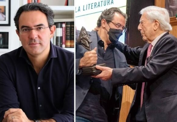 """""""A Vargas Llosa le debo en parte los libros que he escrito"""" el colombiano que ganó la Bienal de novela"""