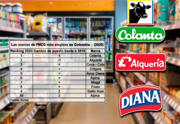 Las marcas preferidas en el país son colombianas