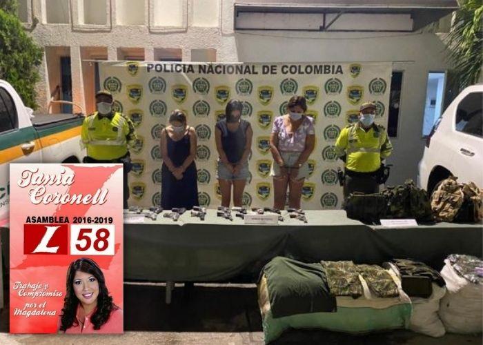 Capturan a excandidata a la Asamblea de Magdalena con 20 armas y elementos de uso militar