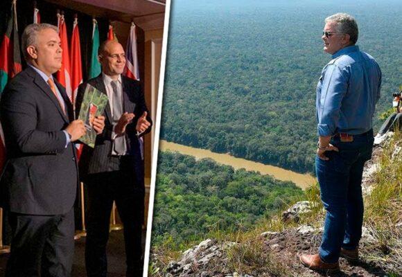 Iván Duque, premiado por ambientalista en EE. UU. pero en Colombia nadie le cree