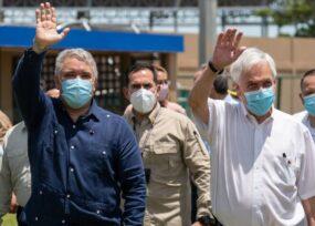Iván Duque se pasea en Turbaco con el presidente de Chile