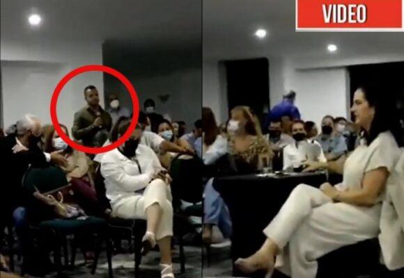 Reapareció el hombre del revolver en el paro de Cali, a apoyar a María Fernanda Cabal