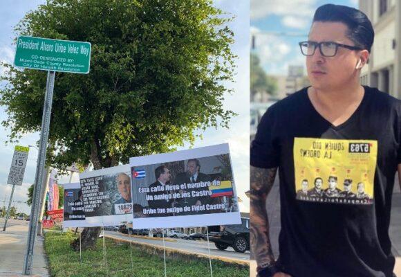 Nueva calle con nombre del expresidente Uribe saboteada: la ensañada de Beto Coral en EEUU