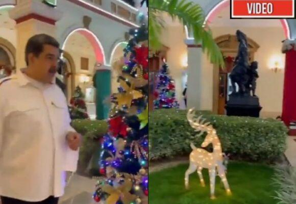 Llenar su palacio de adornos navideños en octubre: la ultima corronchería de Maduro