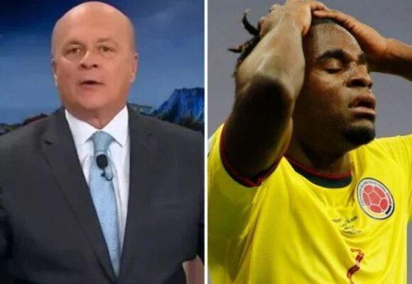 Carlos Antonio Vélez destroza a Duvan Zapata por su error que le costó la victoria a Colombia